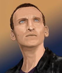 Chris Eccleston as The 9th Doctor by Rabaukus