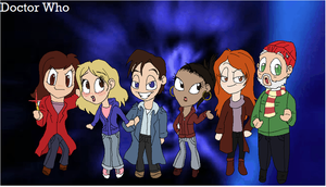 Doctor Who Companion Chibis by ShazTheRaz
