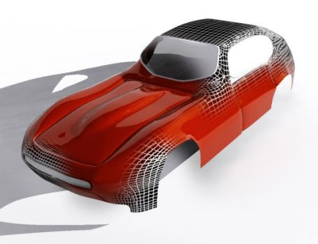 Jag E-Type by Zombiehell
