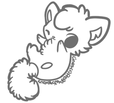 :Free Use Cat Lineart: by PrePAWSterous