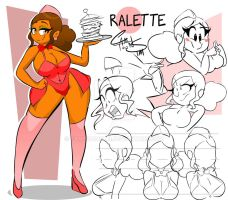 Ralette character sheet. by CamToonsTM