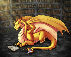 Commission: In The Dragon's Den by Angel-soma