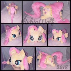 MLP Fluttershy Chibi/Roll/Stacking Plush .:Comm:. by RubioWolf