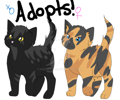 Kitty adoptables (10 points) by MO0NST0NE