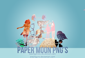 Paper moon PNG's by one21guns