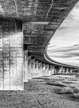 Under the Bridge - 2 B and W by DeTea