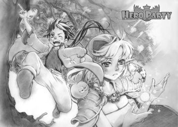 Hero Party Title Page by erie