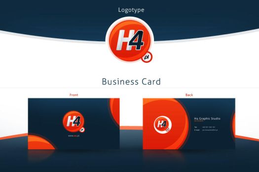 H4 Logotype and Business Card by Nexert