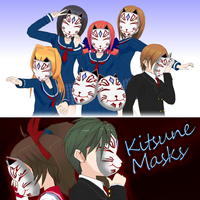 Kitsune Masks - ComiPo! by Metalraptor