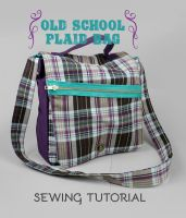 Sewing Tutorial: The Old School Plaid Bag by SewDesuNe