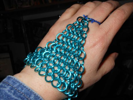 Chain Maille Hand Flower by KTHunter