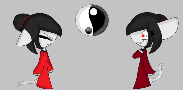 lucy the china cat and the evil lucy by galaxycatgamer1228