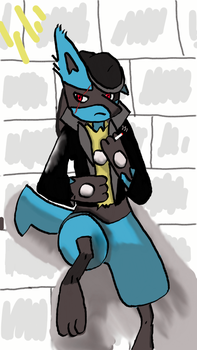 Greaser Lucario by albie83