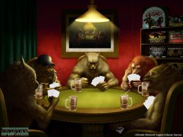 Werewolf playing cards by Montjart