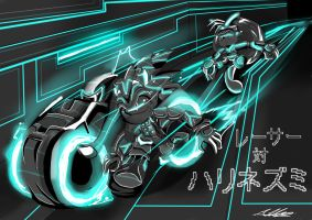Sonic enters TRON : re-edited by Adam-Clowery