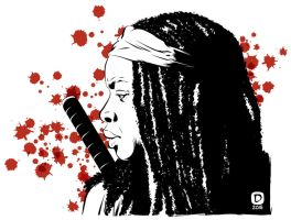 Michonne by handtoeye