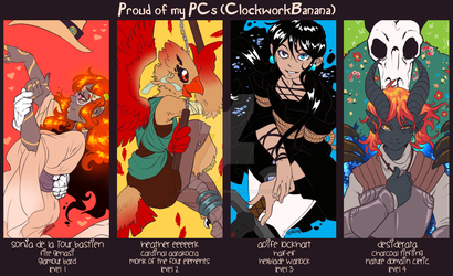 DnD: Proud of My PCs by AkitheFrivolicious
