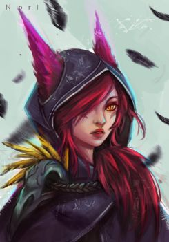 Xayah The Rebel by Noridomo