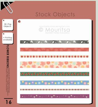 Object Pack - Flower Ribbons by MouritsaDA-Stock