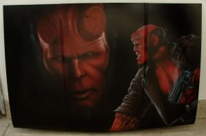 Airbrush hellboy 02 by kshandor