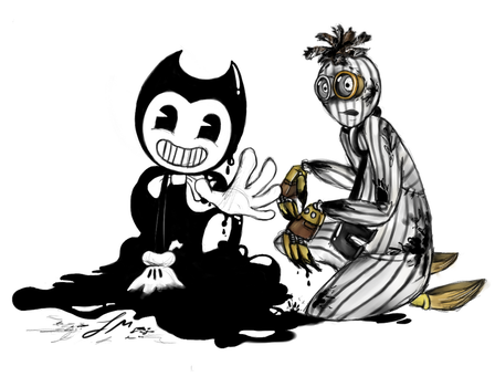 6 and Bendy - The Awakening Of Ink by fnafmangl
