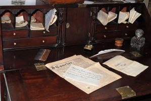 old desk 2 by LucieG-Stock