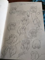 faces and hair style of frisk ut (final desing) by GV-55