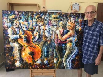 Whirlwind Of Music by Leonid Afremov by Leonidafremov