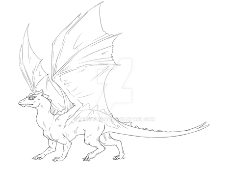 Pern Dragon Template by Terralynde