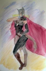 Female Thor Watercolor by SDMcCarty