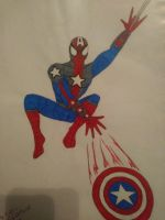 Spider-Man as Captain America by wtatew