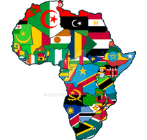 Africa Flag Map by nickyyckin
