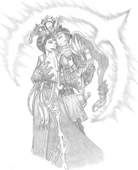 Smite - Chang'e and Hou Yi by L1llx