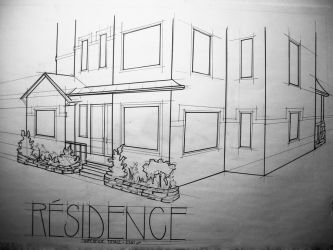 Residence Sketch. by vdepatie