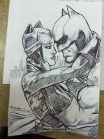 BATMAN AND CATWOMAN SKETCH by TactusVamp