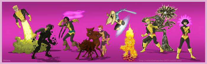 The New Mutants: Classic Lineup by NelsonHernandez