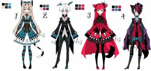 Alice in wonderland theme adoptable baTCH CLOSED by AS-Adoptables