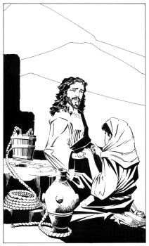 Jesus Christ and the Samaritan Woman at the Well by ScottMcDaniel