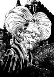 Dracula by Roger Cruz, inked by me. by RayDillon