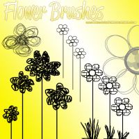 Flower Brushes by PartyWithTheStars