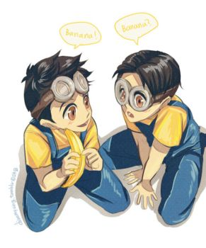 Minion personification - Steve and David by Breetroad