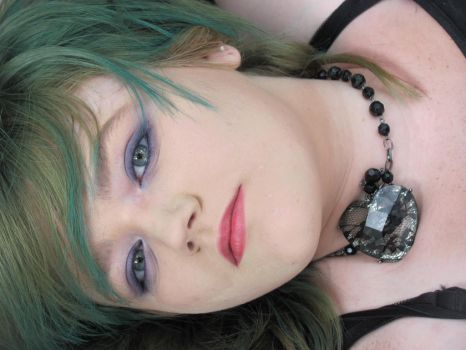 Green Hair Girl. Stock. 30 by Skysofdreams-Stock