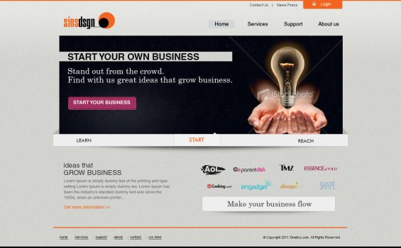 business template by sinziana