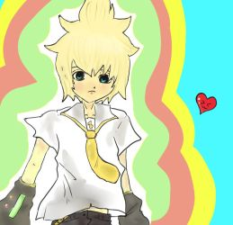 Len :D for vocaloidlenlover123 by Rye-07