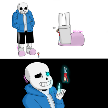 Sans finds a tiny by Lolinondoda