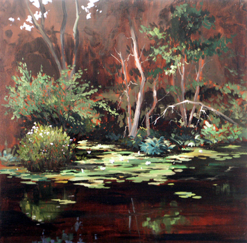 Oil Landscape 24x24 by WilliamArmstrongArt