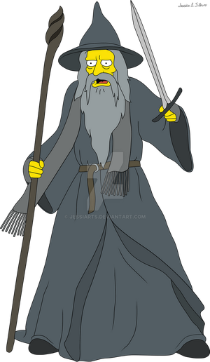 Simpson's Character - Gandalf the Grey by JessiArts