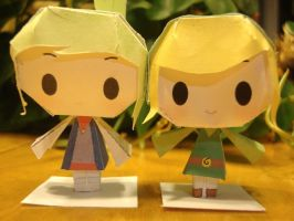 Toon Link Papercraft Complete by AnimeGang
