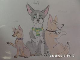 Lola, Luigi and Minerva by AuroreMaudite09