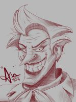 Sketch of joker color next.   by thewiseserpent